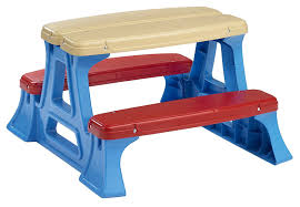 Kmart Camping Table And Chairs by Amazon Com American Plastic Toy Picnic Table Toys U0026 Games