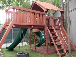 Custom Swing Set And Playset Designs From Jack's Backyard - Jack's ... Simple Diy Backyard Forts The Latest Home Decor Ideas Best 25 Fort Ideas On Pinterest Diy Tree House Wooden 12 Free Playhouse Plans The Kids Will Love Backyards Cozy Fort Wood Apollo Redwood Swingset And Gallery Pinteres Mesmerizing Rock Wall A 122 Pete Nelsons Tree Houses Let Homeowners Live High Life Shed Combination Playhouse Plans With Easy To Pergola Design Awesome Rustic Pergola Screen Easy Backyard Designs