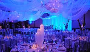 Blue And Purple Winter Wedding