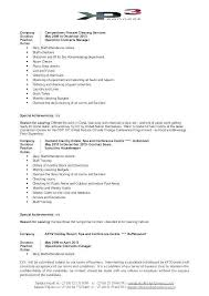 Cleaner Job Description For Resume Fresh Cleaning Samples Template Supervisor Example Examples