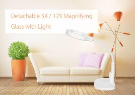 Lighted Magnifier Desk Lamp by Hands Free Loupe Flexible Magnifying Glass With Light Versatile 2