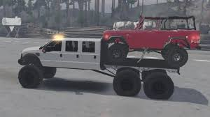 Spintires Mods - Diesel Brothers Super Six Towing Rock Crawler - YouTube
