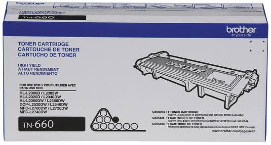 Brother Tn660 Toner - High Yield, Black