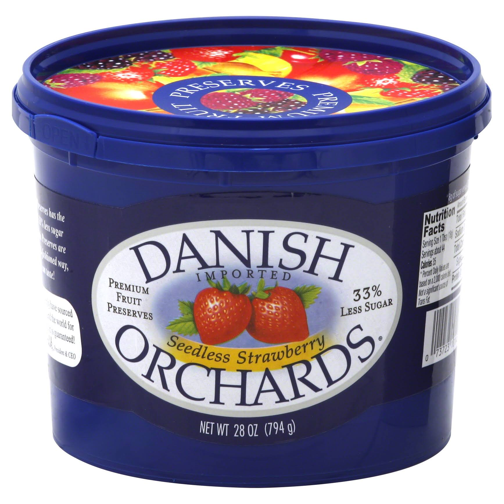 Danish Orchard Seedless Strawberry Spread - 28oz