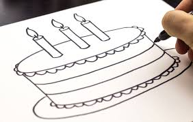 Simple instructions on how to draw a birthday cake for kids Also check out how to draw a PIZZA
