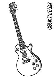 Printable Guitar Coloring Pages
