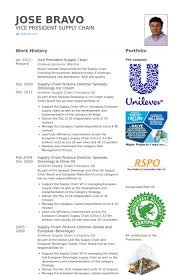 Vice President Supply Chain Resume Samples