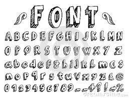 Handwritten Font Cartoon Vector