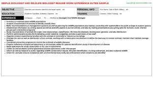 Sample Wildlife Biologist Resume Best Of Custom Zoologist And
