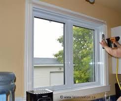 pose des cadrages ou moulure de fenêtre