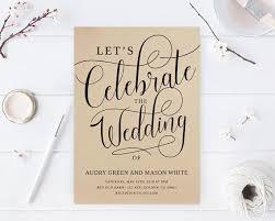 Lets Celebrate Invitations Kraft Wedding Modern Rustic Invites