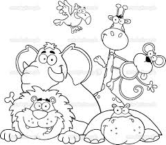 Jungle Printable Coloring Pages Animals Page