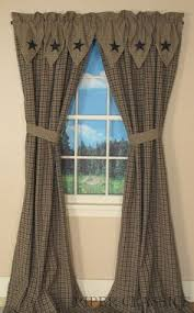 burgundy check scalloped lined swag curtains