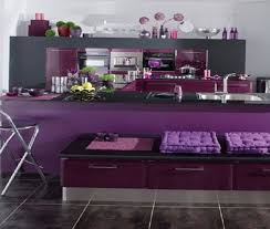 Purple And Lilac Kitchen In The Interior