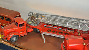 Smith Miller Fire Truck And Ladder Trailer | Z614 | Kissimmee 2011 Folk Art Smith Miller Coke Truck Smitty Toy Smithmiller Sales Brochures And Picture History Hank Sudermans Navajo Kenworth Drom Pictures Lot 682 Smith Miller Pacific Iermountain Express Pie Toy Truck Inc Trucks Handmade In America Details Toydb Weekend Finds Mack Dump Parts B Model Mac Mc Lean Trucking Company Cab Trailer Fire And Ladder Z614 Kissimmee 2011 Awesome Original Vintage 1950 Sthmiller Dep No 3