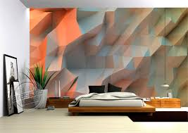 3D Creative Orange Space Wallpaper Bedroom Unique Design Mural Photo