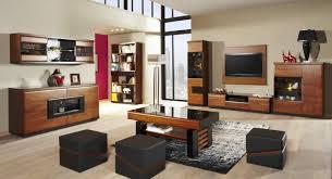 wohnzimmer einrichtung wohnzimmer komplett set c postira 11 teilig teilmassiv farbe walnuss schwarz
