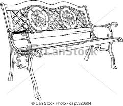 Park bench isolated on the white eps vector Search Clip Art