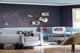 Cute Paint Ideas For Girls Bedroom With Purple Painted Hanging Guitar