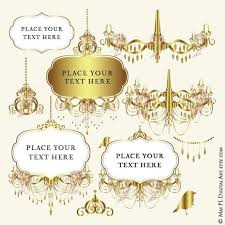Best Of Gold Digital Frames Chandelier Candelabrum Ornate Antique Art Deco Corners Clipart