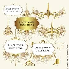 Best Of Gold Digital Frames Chandelier Candelabrum Ornate Antique Art Deco Corners Clipart