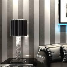 vertikale gestreifte tapete home decor für wohnzimmer schlafzimmer wand beläge metallic schwarz silber moderne luxus wand papier