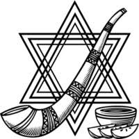 No Rosh Hashanah Celebration Would Be Complete Without These Items So Print Them Out And Color Up In Anticipation Of The Big Day
