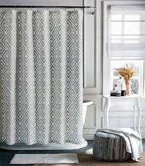 amazon com tommy hilfiger fabric shower curtain gray diamond