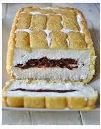 dessert avec des boudoirs gâteau froid au nutella la cuisine des séries