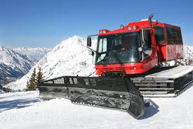 snow cat snow cat and mountain in winter stock images image 8853624