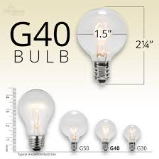 patio lights commercial clear globe string lights 50 g40 e17