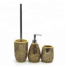 2021 sale neues design bestseller gold mosaik badezimmer wc zubehör set buy gold bad set bad wc set mosaik badezimmer zubehör set product on