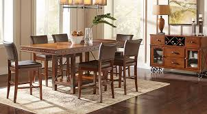 red hook pecan 5 pc counter height dining room dining room sets