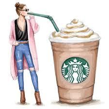Starbucks Coffee Fashion Illustration Digital By StyleOfBrush