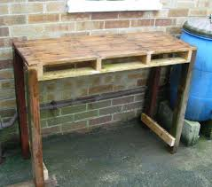 Shed Bench by Workbench From A Pallet 8 Steps