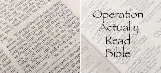 Operation Actually Read Bible