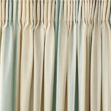 Teal Blackout Curtains Pencil Pleat by Awning Stripe Duck Egg Cotton Pencil Pleat Ready Made Curtains