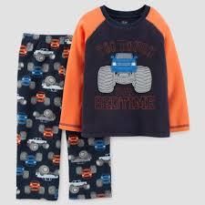 100 Monster Truck Pajamas Toddler Boys 2pc Long Sleeve Pajama Set Just One