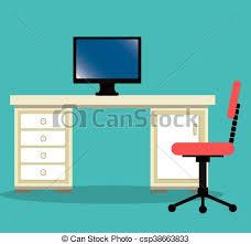 icone bureau travail bureau isolé endroit conception icône vecteurs