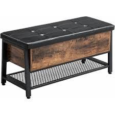 vasagle schuhbank sitzbank mit gepolsterter sitzfläche und