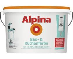 alpina badfarbe und küchenfarbe weiß 5 l