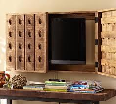 riddling rack tv cover from pottery barn