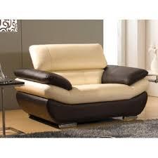 canap marron pas cher la maison du canapé fauteuil cuir rosy beige et marron pas