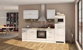 küchenzeile hochglanz weiss einbauküche mit elektrogeräten