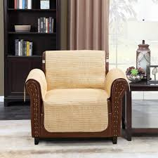 Home Queen Faux Straw Couch Slipcover Chair Covers For Summer, Sofa  Protector With Straps, Furniture Covers Fit Most Recliner Chair 75'' L X  65'' W, ...