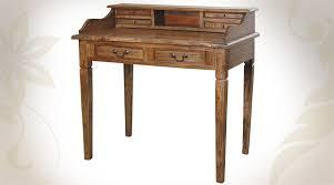 bureau en bois de style ancien finition cire d antiquaire