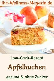 einfacher schneller low carb apfelkuchen rezept ohne