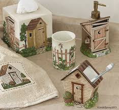 Outhouse Themed Bathroom Accessories by Outhouse Bath Collection Country Bathroom Accessories Sets Tsc