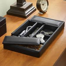 leather dresser valet organizers at brookstone buy now