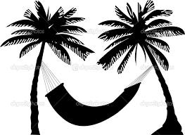 Palm Tree Hammock Clipart 25